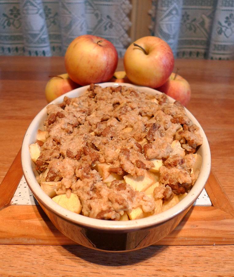 crumble pommes et epices