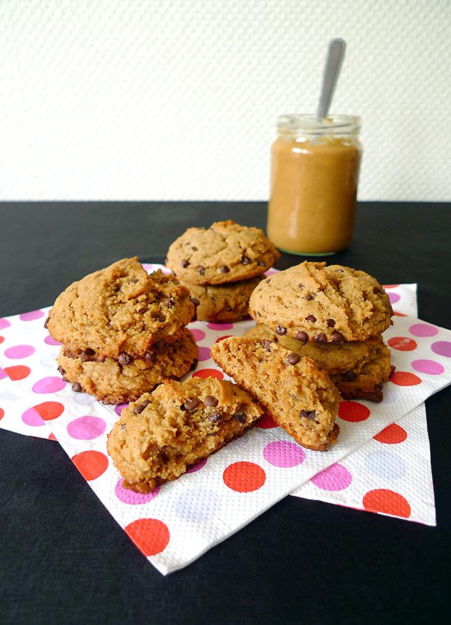 Cookies moelleux beurre de cacahu te banane et p pites de chocolat chocolable - Cookies beurre de cacahuete ...