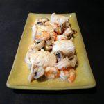 Filets de sole aux crevettes et aux champignons