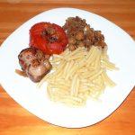 Paupiettes tomate, oignon et champignon