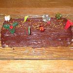Bûche au chocolat et à la crème de marron