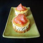 Cheesecake aux petits pois et saumon fumé