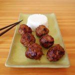 Boulettes de viande sauce soja