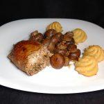 Roulé de veau au jambon cru, aux champignons et au fromage frais