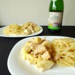 Poulet à la pomme et au cidre