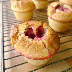 Muffins au citron, à l'amande et aux fraises