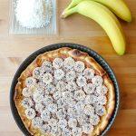 Tarte à la noix de coco et à la banane