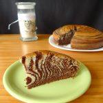 Zebra cake au chocolat et à l'orange (marbré italien)
