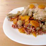 Cuisse de dinde  aux champignons, aux lardons et aux carottes