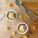 Glace à la banane et aux mirabelles (nice cream)