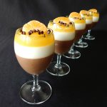 Panna cotta au chocolat, aux épices et à l'orange