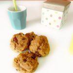 Cookies fondants banane, chocolat, beurre de cacahuète et raisins secs