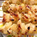 Brochettes de poulet à l'ananas