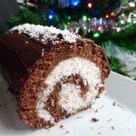 Bûche façon bounty (chocolat et noix de coco)