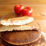 Pancakes au jambon et au fromage
