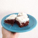 Gâteau moelleux façon bounty (chocolat, noix de coco)